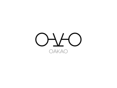 Oakao Fashion Brand Logo brand minimal art typography ui fashionbrand fashion art fashion branding logo graphic  design graphic art design illustration icon flat design