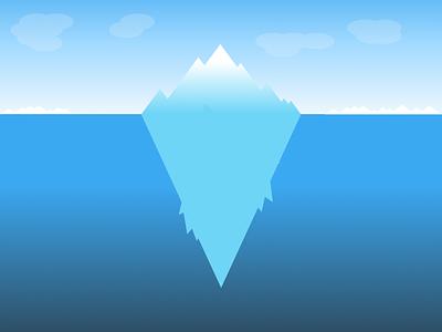 Iceberg Canvas cartoon art icebergs artic antarctica bluecolors pastel colors minimal art graphic  design graphic art design illustration flat design
