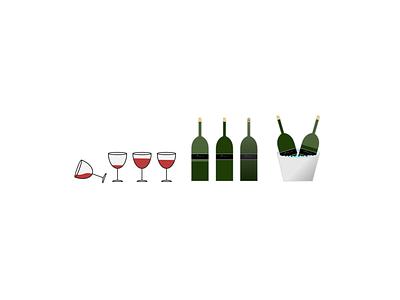 Wine'n'Dine sketch app wine glass wine bottle wine branding wine logo wine vector pastel colors branding minimal art cartoon graphic  design graphic art design illustration flat design