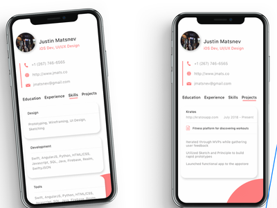 Visual Resume App Part 2