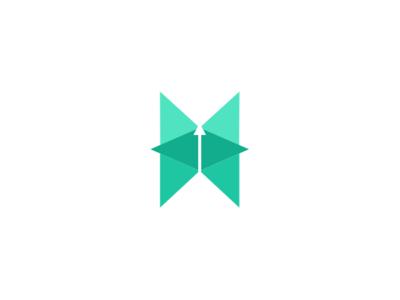 Butterfly Logo vector geometric design geometric art branding minimal art logo icon graphic  design graphic art illustration design flat design