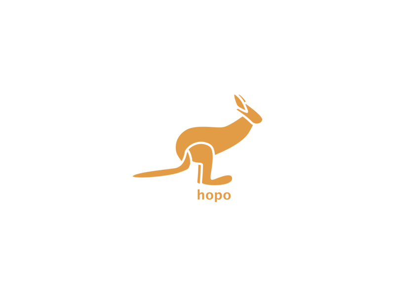 Kangaroo Logo animal animallogo kangaroologo dailylogochallenge kangaroo branding minimal art logo icon graphic  design graphic art illustration design flat design