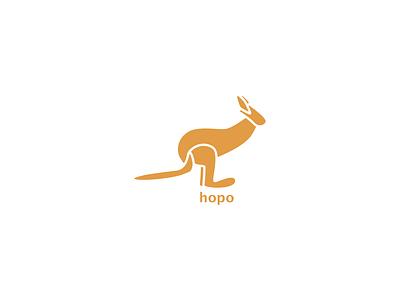 Kangaroo Logo animal animallogo kangaroologo dailylogochallenge kangaroo branding minimal art logo icon graphic  design graphic art illustration design flat design