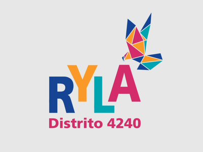 Distrito 4240: RYLA 2020 rotary international rotary origami dove after effects graphic design branding and identity branding