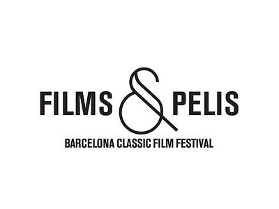 Barcelona's Films and Pelis Festival black and white logo design motion graphics film festival barcelona