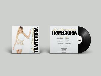 """La Materialista's """"Trayectoria"""" LP Album cd cover record cover printing graphic design typography"""