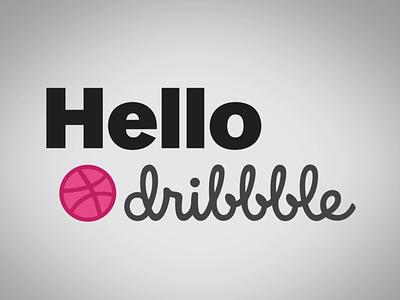 Hello Dribbble! motion graphics design vector dianalu 2d animation animation motion graphics hello dribbble