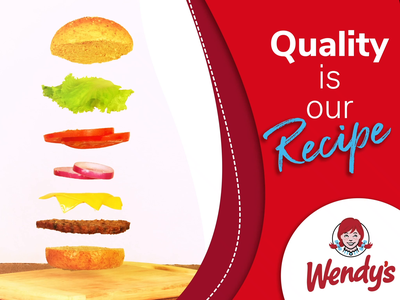 Wendy's Ad motiongraphics motion graphics after effects motion graphics design 2d animation design dianalu advertisement advertising wendys product photography photography animation