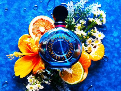 Blue Parfum Photoshoot product photo product dianalu product photography photography advertising 2d animation