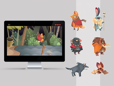 characters and background concept art digital art concept art foxanimals character texture illustration game design graphicdesign digital conceptart