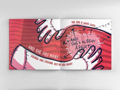Voodoo Girl Illustration mixed media children illustration painting drawing pink book poem digital art illustration