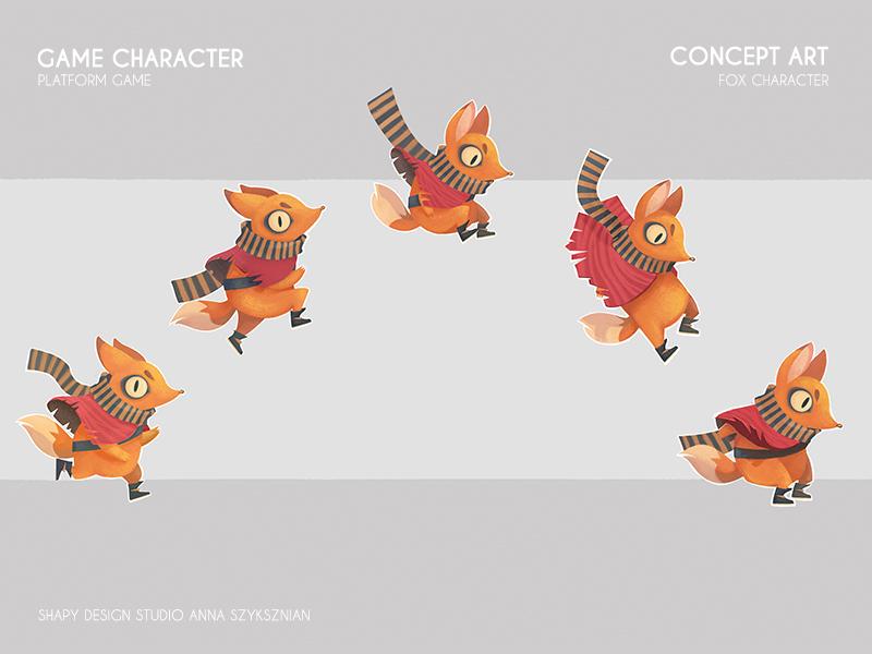 Game Concept Art digital art concept art animals fox character texture illustration game design graphicdesign digital conceptart