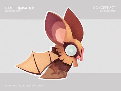 Game Concept Art digital art concept art animals bat character texture illustration game design graphic digital conceptart