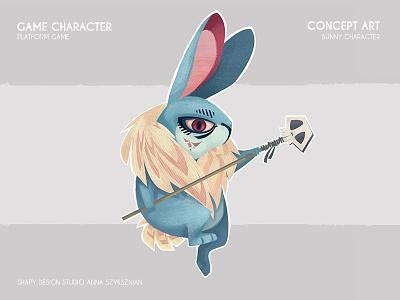Game Concept Art digital art concept art animals rabbit bunny character texture illustration game design digital conceptart