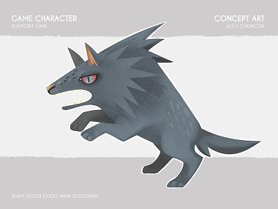Game Concept Art digital art concept art animals wolf character texture illustration game design graphic digital conceptart