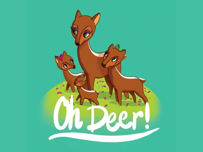 Oh Deer deer illustration
