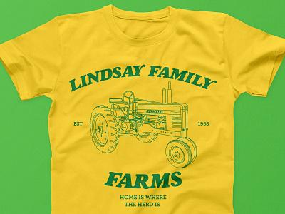 Lindsay Family Farms tractor family reunion family farm tshirt