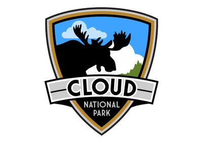 Cloud National Park zajacdesign logodesign logo graphicdesign dailylogochallenge brandidentity