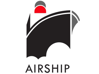 Airship art deco delivery delivery service airship design zajacdesign logodesign logo graphicdesign dailylogochallenge brandidentity