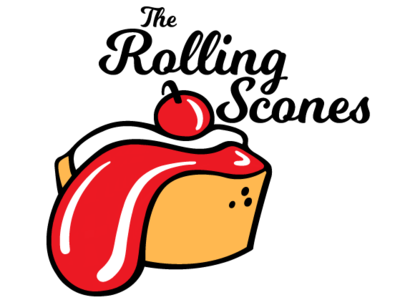 The Rolling Scones pastries therollingstones therollingscones zajacdesign logodesign logo graphicdesign dailylogochallenge brandidentity
