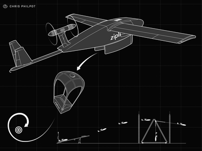 Zipline Drone for Wired's 25th Anniversary Issue design drone how-to line art infographic information graphics vector technical illustration editorial illustration illustration
