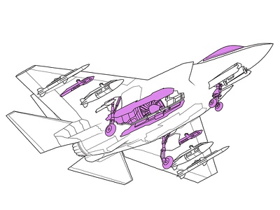 F-35 for Businessweek design business infographic information graphics vector technical illustration line art editorial illustration illustration