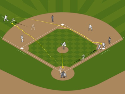 MLB Analytics for Wired information graphics design infographic vector how-to line art technical illustration editorial illustration illustration