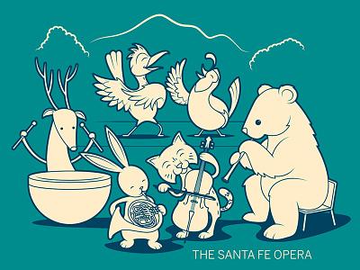 Animal Orchestra wildlife southwestern southwest orchestra characters kids animals music opera design vector illustration