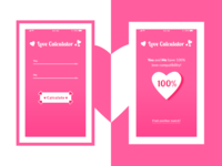 Love Calculator App - Daily UI 004