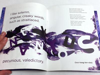 I Like Words book making texture project indesign print type designer handmade book art art i like words words 2014 massart typography design book