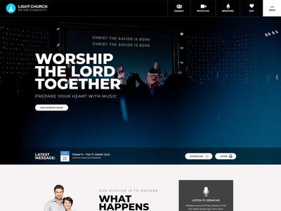 Church Website Design ui ux design wordpress joomla css web design church