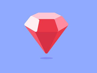 Diamond flatcolor flatcolors vector minimalist icon design minimalist icône daily flat design icon