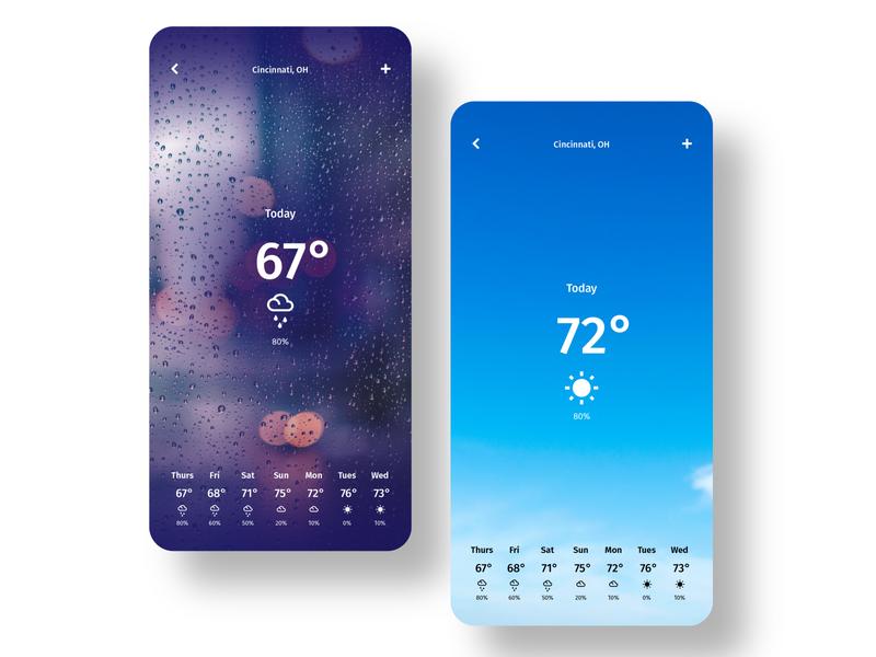 Daily UI 037: Weather design ux ui responsive mobile app weather 037 dailyui