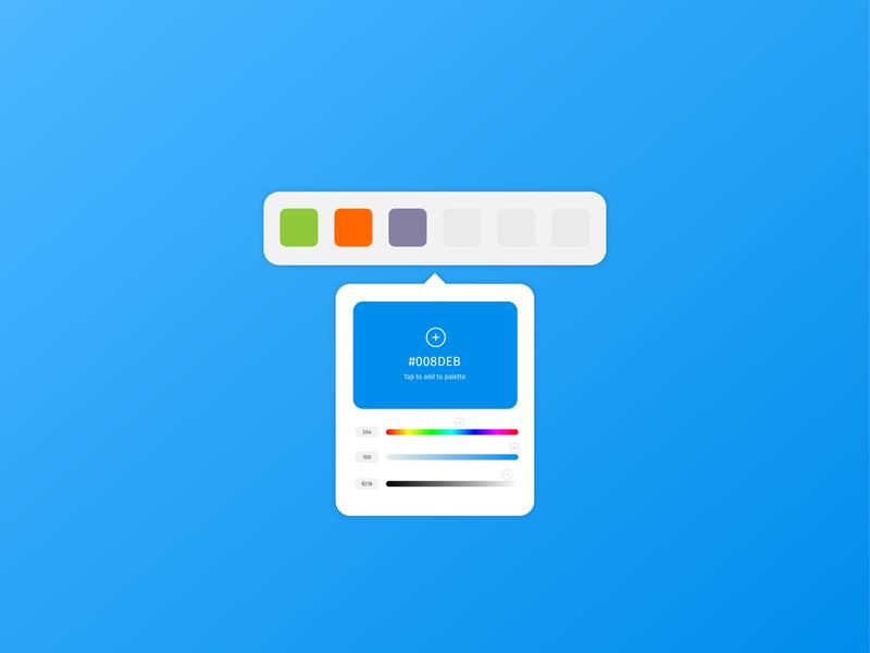 Daily UI 060: Color Picker design ux ui colors builder palette color palette select picker color 060 dailyui