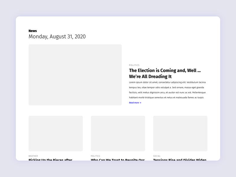 Daily UI 094: News design ux ui feed news 094 dailyui