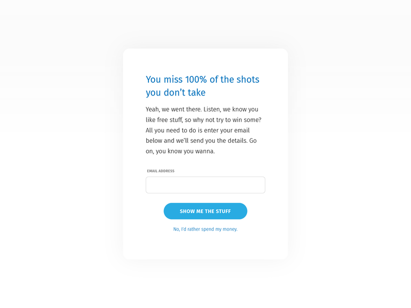Daily UI 097: Giveaway design ux ui give away modal email form enter giveaways giveaway 097 dailyui