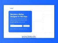 Daily UI 100 design ux ui 100daychallenge cta call to action hero splash page splash redesign page landingpage landing 100 dailyui