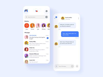 Arela Dating App app design dating app app mobile app uidesign ui ux user experience user inteface chat message
