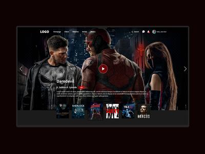 Movie Website UI Design
