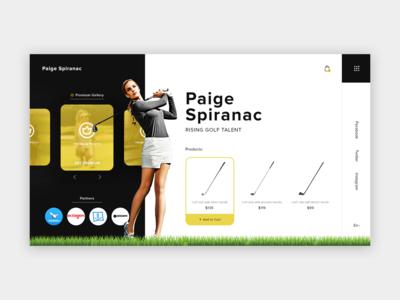 Paige Spiranac Personal Website