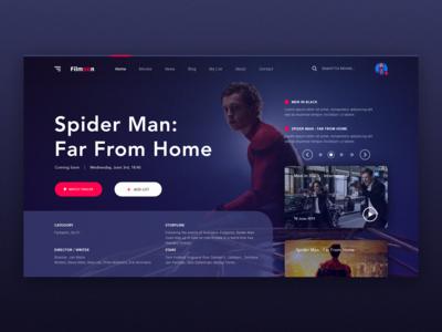 Filmoon Movie Website Design