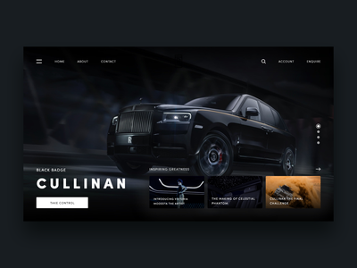 Rolls Royce Redesign Concept ghost user interface ux ui webdesign user experience rolls royce redesign modern interface design cullinan car