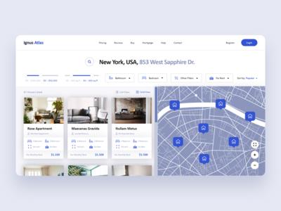Ignus Atlas Real Estate Landing Page Design