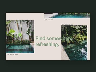 Refreshing Landing Page uu ux travel web design