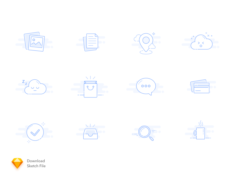 12 Empty States Icons design vector empty app illustration flat clean line web web design mobile ui iconography icon design icon icon set empty screen empty states empty state emptystate