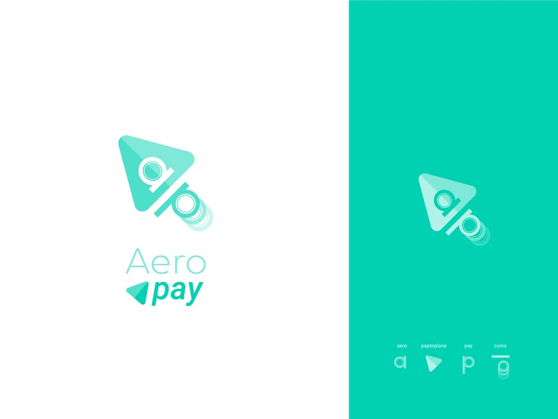 Redesign Aeropay Logo p a coins airplane logodesign typography process startup green crypto payment app web app payment icone logotype logo logomark mark redesign