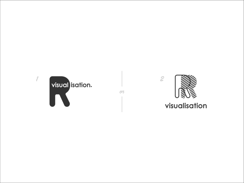 R Visualisation icon white black logodesign process blueprint 3d architecture r monogram design branding flat concept mark logomark logo challenge rvisualizations logocore