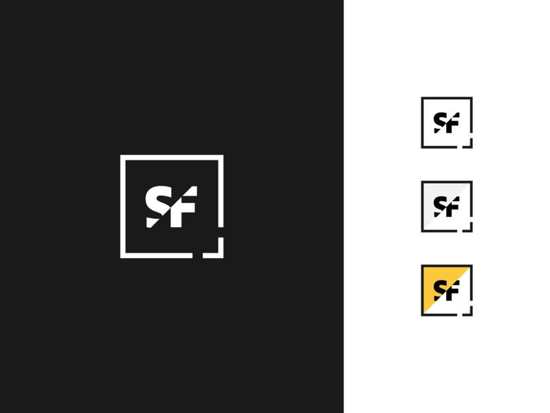 Slash Films logofolio flat process icon merouane bellaha blackandwhite dark logo monogram logomark concept brand identity branding logocore slashfilms brand guideline brand