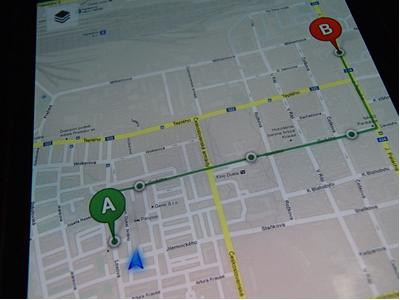 CG Transit - Android - 01 android map application pin