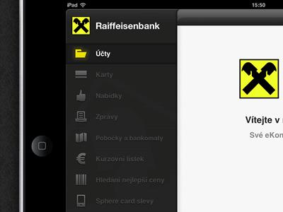 Raiffeisenbank ipad bank ipad menu